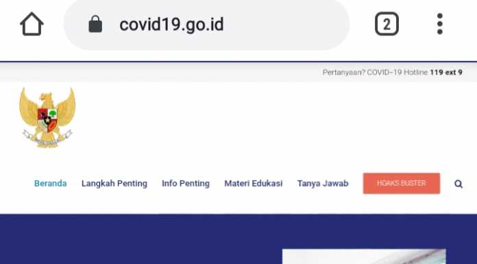 Satukan Informasi Terkait COVID 19, BNPB Luncurkan Website COVID19.GO.ID  (covid19.go.id)