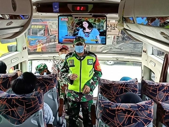 Perang Lawan COVID 19, Dishub Kota Bekasi Sosialisasi Kewaspadaan COVID 19 di Terminal Bekasi (instagram @dishubbekasikota)